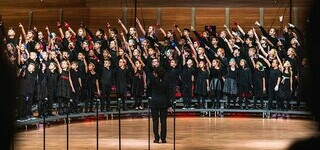 The Master's Academy Concert Choir in action during the Christmas concert