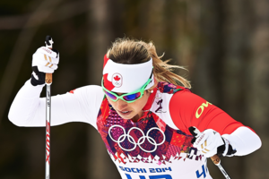 Chandra in Olympic action in Sochi. Photo credit Nordic Focus.