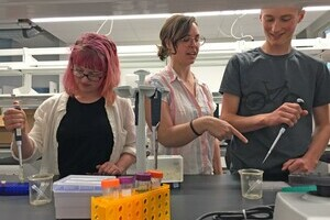 Palliser students take part in an orientation for the U of L bio-engineering course