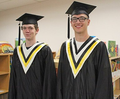 The Class of 2019 at John Davidson School, Pancho Wieler, at left, and Peter Neustaeter.