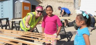 Brant Christian School students got the chance to work alongside the families that were to receive the homes they built.