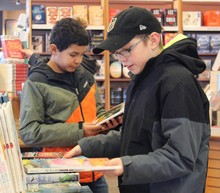 Picture Butte High School students picked out books at Chapters they'd like to read and that others would enjoy as well.