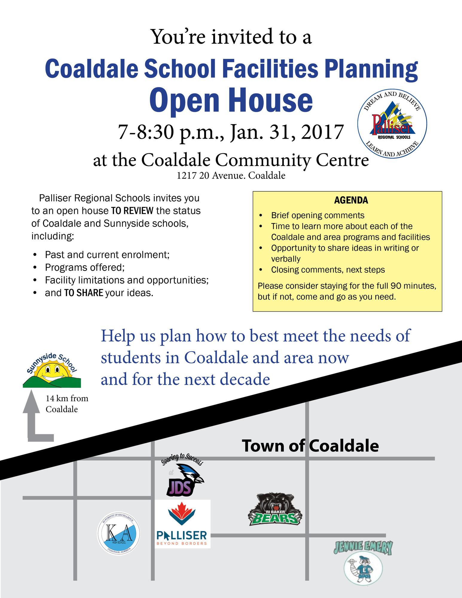 Coaldale School Facilities Planning Open House Jan. 31 | Palliser ...